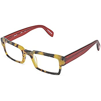 794b609806c Prince Street - Rectangular Trendy Fashion Reading Glasses for Men and  Women - Tortoise Red (+1.00 Magnification Power)