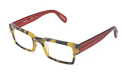Prince Street - Rectangular Trendy Fashion Reading Glasses for Men and Women - Tortoise/Red (+1.50 Magnification Power) (Street Glasses Reading Scojo)
