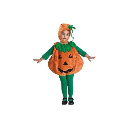 Pumpkin Costumes For Infants (Rubie's Costume Baby Pumpkin Romper Costume, Orange, 6-12 Months)