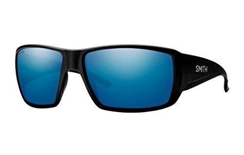 Smith Guides Choice ChromaPop Polarized Sunglasses, Matte Black, Blue Mirror - Guide Glasses Mens