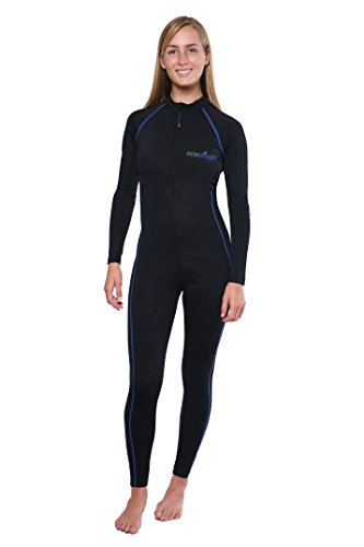 Full Body Swimsuit Sun Protective Stinger Suit Dive Skin UPF50+ Black Royal Stitch XL ()
