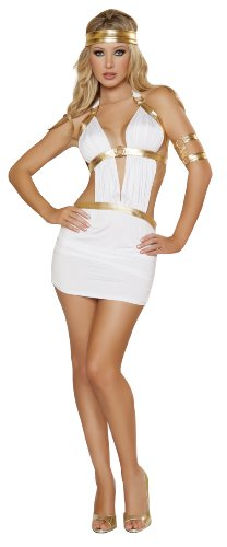Greek Princess Costumes (Roma Costume 3 Piece Greek Princess Costume, White, Small/Medium)