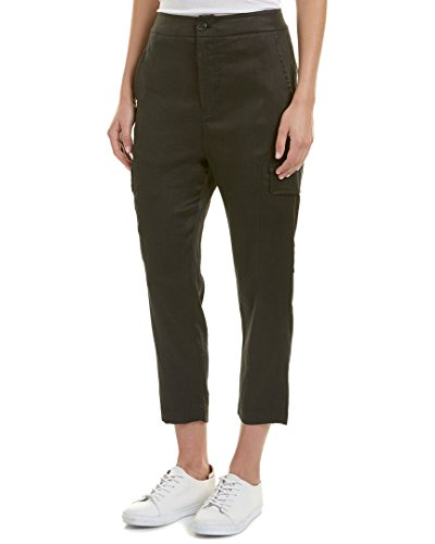 Vince Linen Drawstring (Vince Women's Drawstring Cargo Pants, Black, Small)