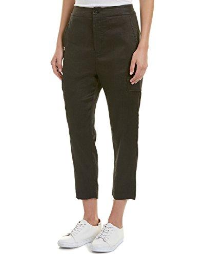 Vince Linen Drawstring (Vince Women's Drawstring Cargo Pants, Black, Small)