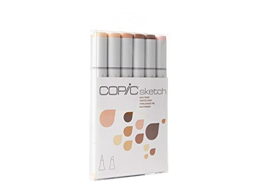 (Copic Markers 6-Piece Sketch Set, Skin Tones I )