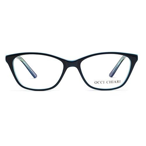 OCCI CHIARI New Rectange Colorful Eyewear Frame With Clear Lens(blue, - Frames Eyeglass New Fashion