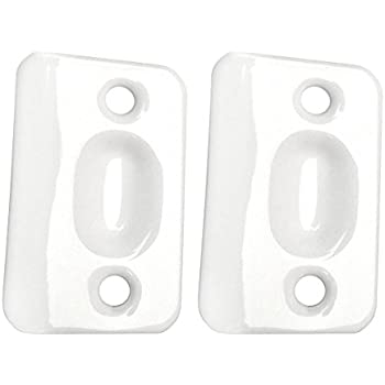 Designers Impressions White Replacement Strike Plates For