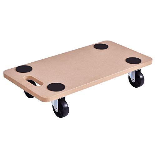 """Goplus Moving Dolly Heavy Duty Wood Furniture Dollies Movers Carrier (23"""" x11.5"""" Platform)"""