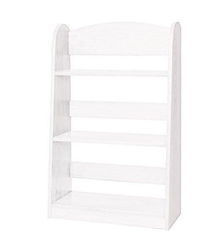 Children's Wooden Bookshelf - White Paint - Amish Made in USA