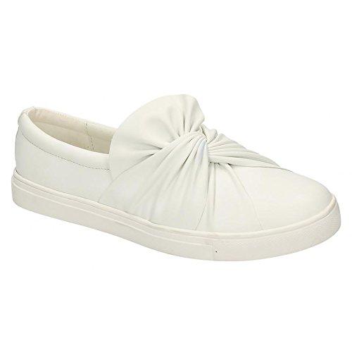 Schuhe On Damen On Weiß Twist Spot Slip Damen PU YOx0wp