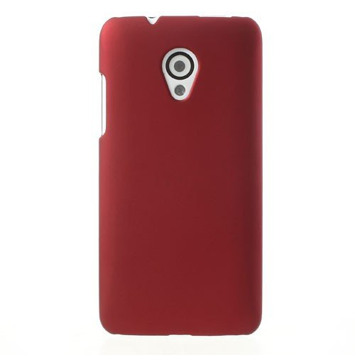 JUJEO Rubberized Plastic Back Case for HTC Desire 700 Dual SIM - Non-Retail Packaging - Red