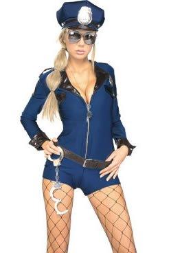 Miss Demeanor Adult - Medium - Adult Costumes (Police Fancy Dress Women)