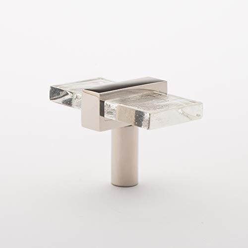(Sietto Adjustable Clear Glass Polished Nickel Base K-1900-PN Cabinet)