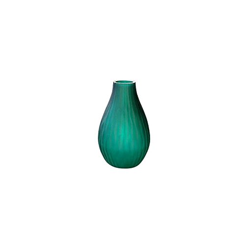 CRISTALICA Vase, Flower vase, Bouquet Vase, Collection JOZY, glass, jade, H=30 cm, Handmade-Unique glass vase(GERMAN CRYSTAL powered by