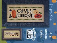Halloween Rules-Carve A Pumpkin/Stay Up Late Cross Stitch Chart and Free Embellishment ()