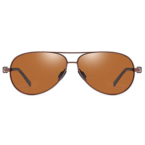 Aviator Sunglasses Polarized Anti Reflective UV400 Protection Lens Small Size for Men and Women ()