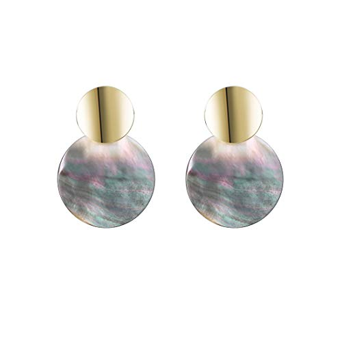 - YOMEGO 925 Sterling Silver Natural Shell Earring - 14K Gold Drop Earring Shell Dangle for Party, Good Idea of Jewelry Gift for Women (Tortoise Shell)