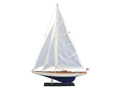 Hampton Nautical Wooden Model Sailing Yacht Enterprise, - Cup Americas Yacht Model