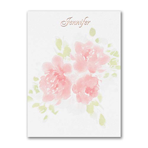 575pk Flower Pattern - Note Card-Note Cards by Carlson Craft (Image #1)