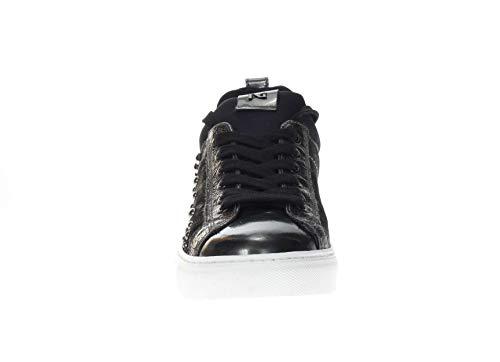 Sneaker In Nero Antracite Giardini Pelle Donna ngaxwBqY