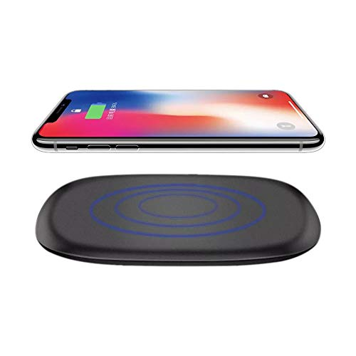 Price comparison product image Buybuybuy iPhoneX Wireless Charger,  Qi Certified 10W Fast Wireless Charger Charging Pad Stand for Galaxy S9 / S9+ Note 8 / 5 S8 / S8+ S7 / S7 Edge S6 Edge+,  Standard Qi Charger for Iphone XS / XR / XS MAX (Black)