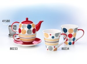 Tea for one Set Miranda Keramik, 4-teilig Kanne: 0,4 l, Tasse: 0,2 l Dethlefsen + Balk
