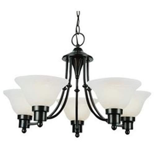 Trans Globe Weathered Bronze 5-Light Chandelier 6545WB ()