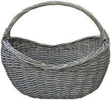 Antique Wash Village Wicker Shopping Basket