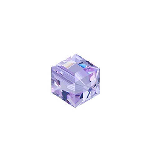 Swarovski Crystal Cube Bead, Tanzanite, 6 MM, Model 5601, Lot of 24 Pieces