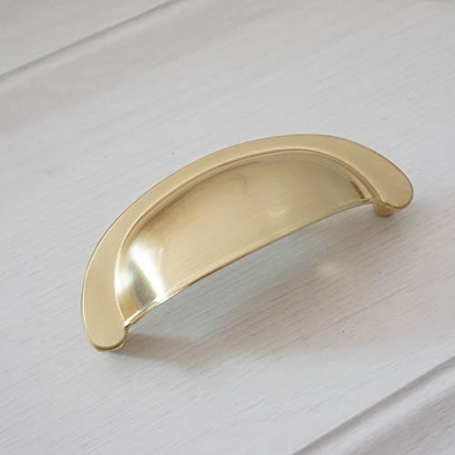 3' Brass Cabinet Cup Pull - LBFEEL 3.0