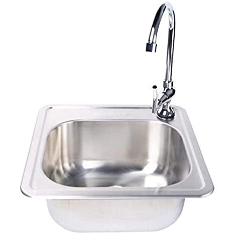 Outstanding Fire Magic Stainless Steel 15X15 Sink With Faucet Home Interior And Landscaping Palasignezvosmurscom