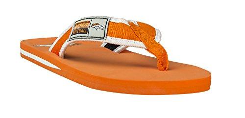 Forever Samlar Nfl Mens Locker Etikettkontur Flip - Floppen - Pick Lag Denver Broncos