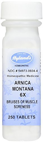 Hyland's Arnica Montana 6X Tablets, Natural Homeopathic Bruises or Muscle Soreness Relief, 250 Count by Hyland's Homeopathic