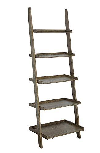 Convenience Concepts American Heritage Bookshelf Ladder, Driftwood (Wall Shelf Ladder)