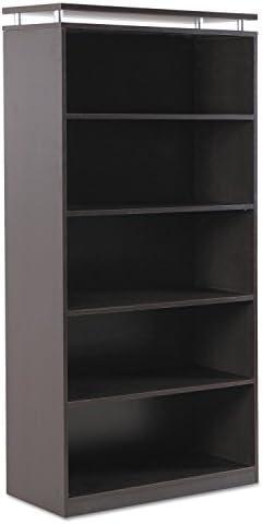 Alera SedinaAG Series Bookcase, Five-Shelf, 36 x 15 x 72-Inch, Espresso