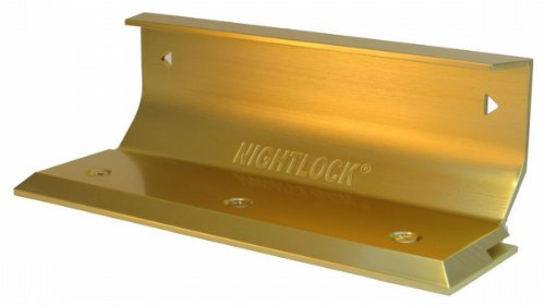 Brass Finish Door Locks - Nightlock Security Lock Door Barricade Bright Brass Finish
