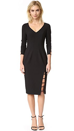 Buy black halo cut out dress - 1