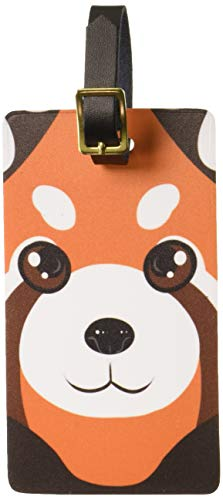 Graphics & More Red Panda Cute Luggage Tags Suitcase Carry-on Id, White