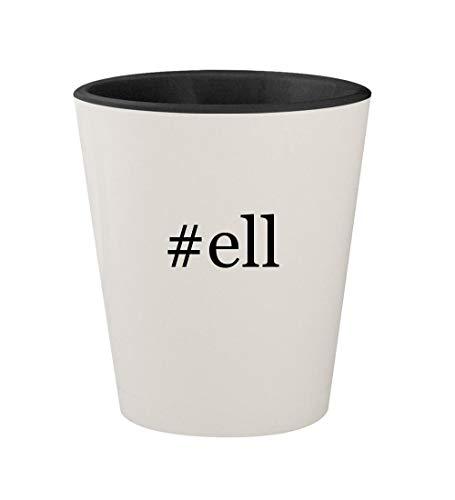 - #ell - Ceramic Hashtag White Outer & Black Inner 1.5oz Shot Glass