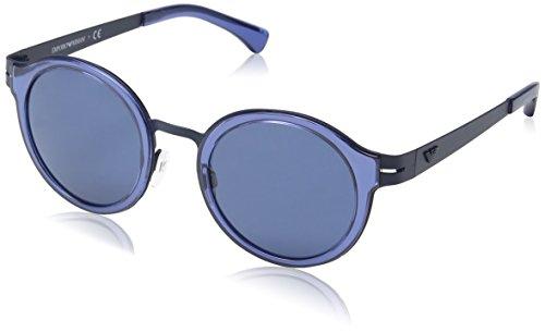 Emporio Armani EA 2029 Men's Sunglasses Blue Rubber - Armani Round Sunglasses