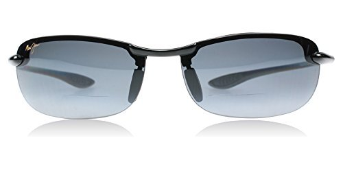 Maui Jim G805-02 Gloss Black Makaha Reader Wrap Sunglasses Polarised Golf, Sail by Maui - Black Sails Sunglasses