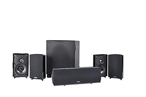 Definitive Technology Procinema 800 - Premium 5.1 Channel Home Theater Speaker System | 300W Powered Subwoofer, Center Channel + 4 Satellite Speakers | HD Dolby Surround Sound | Wall Mountable