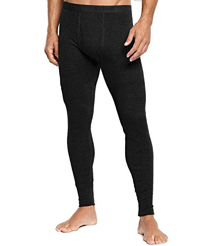 Alfani Mens Waffle Pajama Thermal Pants Black -