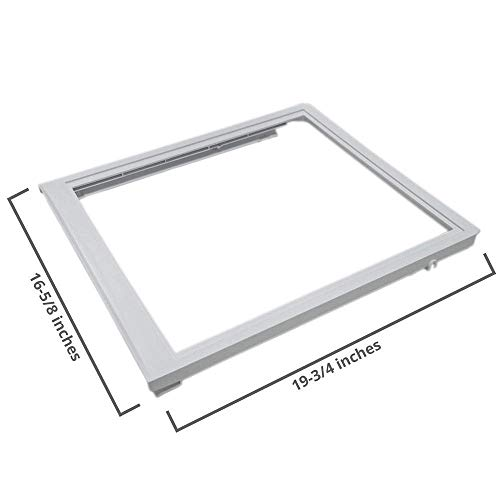 Lifetime Appliance 240350702 Upper Crisper Pan Cover Compatible with Frigidaire - Cover Drawer Crisper Refrigerator