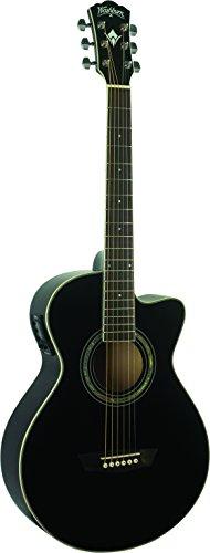 (Washburn EA10B-A Festive Series Petite Jumbo Cutaway Acoustic Electric Guitar)