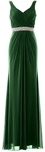 Green cinghie Guaina Donna MACloth Prom Dress matrimonio formale a V Dark sera Long abito scollo da CxZXxqw