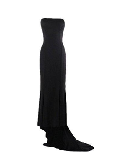 EMIN Damen Kleid Sommer Lang Fishtail Stil Halterkeid Festlich Elegant Ohne Arm Schlank Kleider Partykleid Brautkleid