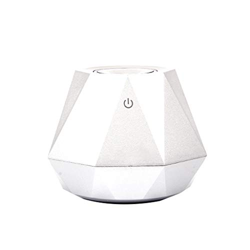 Irene 180ml Home Decor Air Humidifier Operated USB Portable Travel Mini Diamond Shape (White) ()