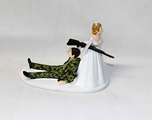Camo Wedding Cake Toppers (Military Camo Redneck Wedding reception party Hunter Hunting Cake)