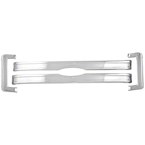 OxGord Front Grille Insert Overlay Trim for 2013-2014 Ford F150 - Chrome Snap On Billet Style - Car, Van, Truck & Jeep Accessories ()
